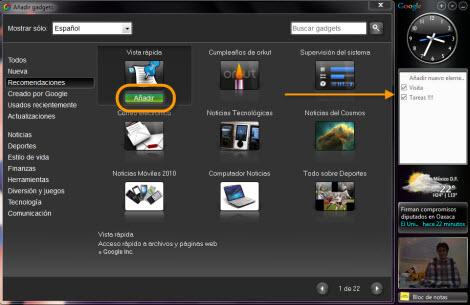 Agregar Google Gadgets en tu escritorio - agregar-google-gadgets