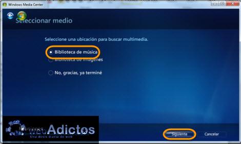 Crear una lista de reproducción en Windows Media Center - biblioteca-musica-windows-media-center1