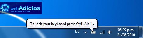 bloquear teclado Bloquear tu teclado con un atajo en Windows