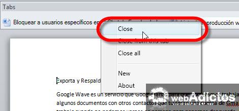Agregar Tabs a tus documentos de Word - cerrar-tabs-office-word