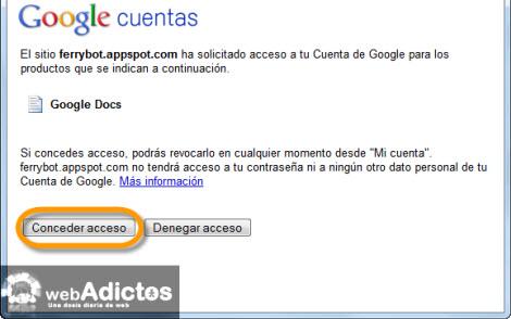 Exporta y Respalda la información de tu Google Wave - conceder-acceso-google-docs