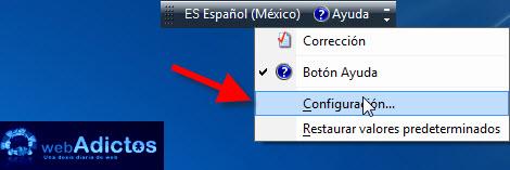 Cambiar el idioma del teclado en Windows - configuracion-barra-idioma