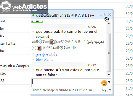 Aprende a abrir messenger en Hotmail - conversacion-messenger-hotmail