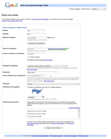 crear correo gmail 2 Crear correo Gmail