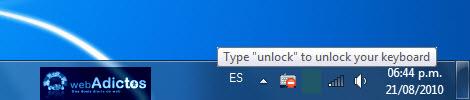 desbloquear teclado1 Bloquear tu teclado con un atajo en Windows