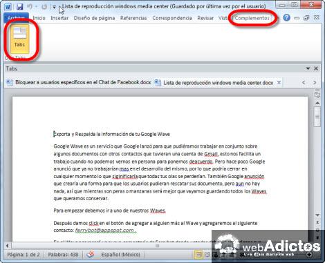 Agregar Tabs a tus documentos de Word - documentos-en-tabs-word