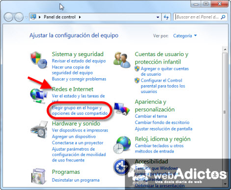 elegir grupo en el hogar Crear un Grupo en el Hogar en Windows 7