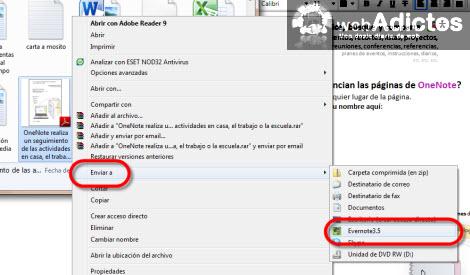 Importar una nota de OneNote 2010 a Evernote - enviar-a-evernote