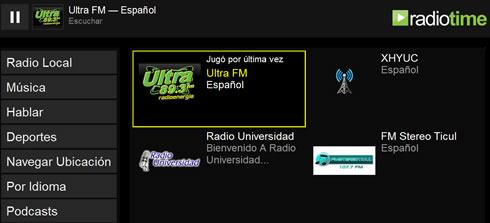 escuchar radio Estaciones de radio locales en RadioTime