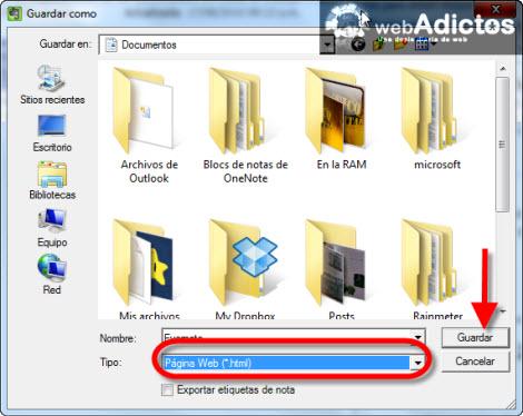 Exportar tus notas de Evernote a formato HTML - exportar-nota-evernote-a-html