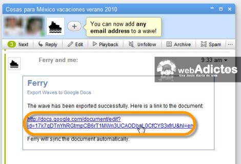 Exporta y Respalda la información de tu Google Wave - exportar-wave-desde-google-docs1