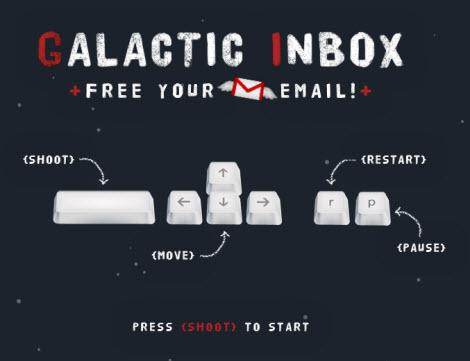 galactu Galactic Inbox, Gmail nunca fue tan divertido