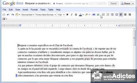 Subir documentos a Google Docs con un click - google-docs