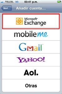 hotmail push iphone Configuración Push hotmail
