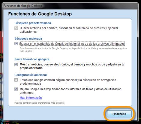 instalar google desktop Agregar Google Gadgets en tu escritorio