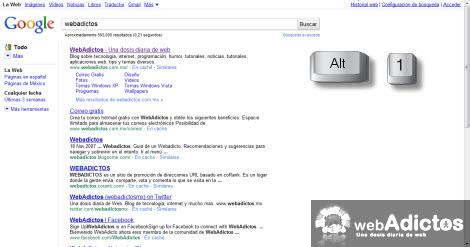 Permitir la búsqueda en multicolumas en Chrome - multicolumnas