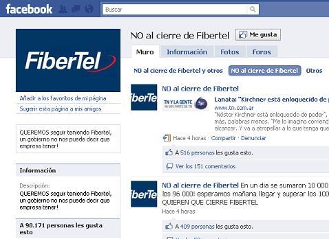 Cierre de Fibertel en Argentina, proveedor de Internet - no-al-cierre-de-fibertel
