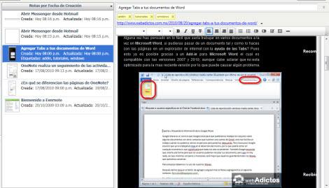 Recuerda todo lo que ves en internet con Evernote - notas-evernote