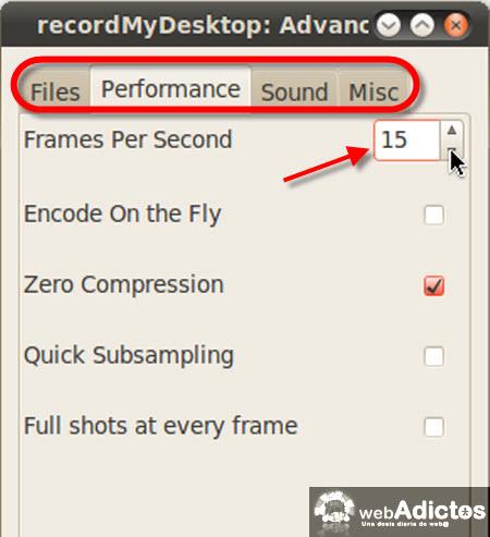 Graba la actividad de tu escritorio en Ubuntu - opciones-avanzadas-recordmydesktop
