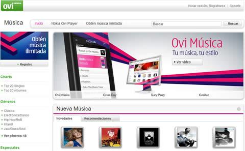 Nokia Music ahora es Ovi Music - ovi-musica