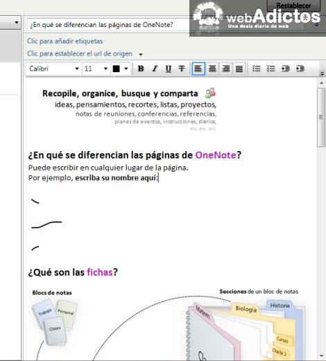 pegar nota onenote Importar una nota de OneNote 2010 a Evernote