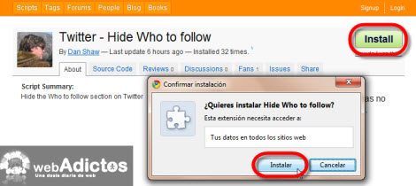 "Esconder ""A quien seguir"" de Twitter en Chrome - script-esconder-sugerencias-twitter"