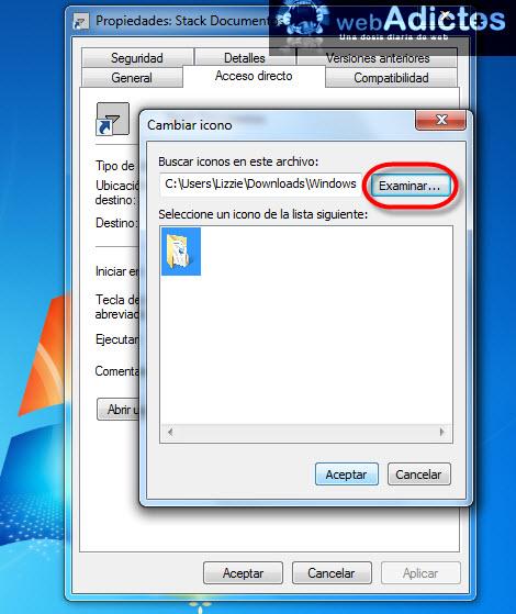 Crear stacks en Windows sin necesidad de un dock - seleccionar-icono-stack