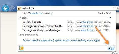 Como cambiar el motor de búsqueda de Internet Explorer 9 - 19-09-2010-08-46-00-a.m.