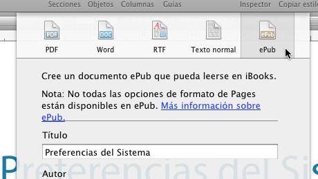 Exportar a formato epub libro electronico pages 3 Exportar en formato ePub desde Pages