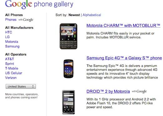 Google Phone Gallery, todos los smartphones con Android - Google-Phone-Gallery