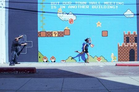 Mural de Super Mario Bros Mural de Super Mario Bros