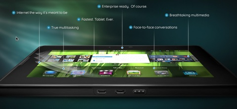 Playbook de BlackBerry, un vistazo [video] - blackberry-playbook