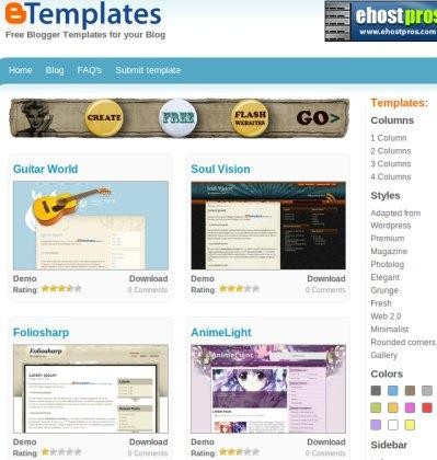 Descarga cientos de temas para Blogger con BTemplates - btemplates