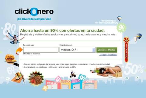 clickonero inicio ClickOnero, descuentos de hasta el 90%
