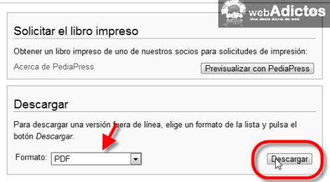 Crear un eBook a partir de un artículo de Wikipedia - descargar-ebook