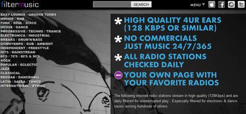 Escuchar musica online en FilterMusic - escuchar-radio-internet