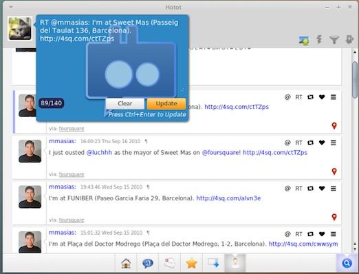 Cliente de Twitter para Linux, Hotot - hotot