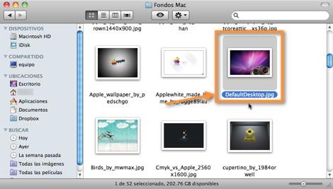 renombrar imagen fondo Cambiar el fondo de inicio de sesión en Mac OS X