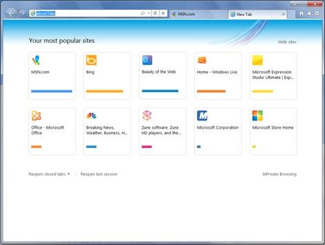 Que hay de nuevo en Internet Explorer 9 - tabs