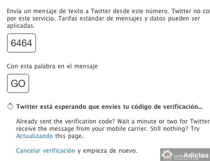 Activar twitter con tu celular movil 6 Activar Twitter por mensajes de texto SMS