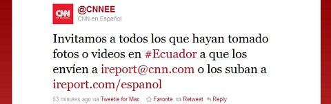Twitter en el intento Golpe de Estado en Ecuador - cnn-ecuador-golpe-de-estado