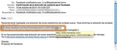 correo confirmacion facebook Como cambiar tu correo de contacto en Facebook