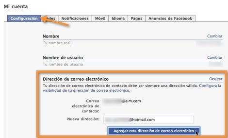 direccion correo facebook1 Como cambiar tu correo de contacto en Facebook