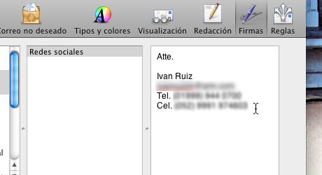 firma mail 6 Hacer firma de correo en Mail para Mac