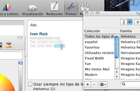firma mail 9 Hacer firma de correo en Mail para Mac