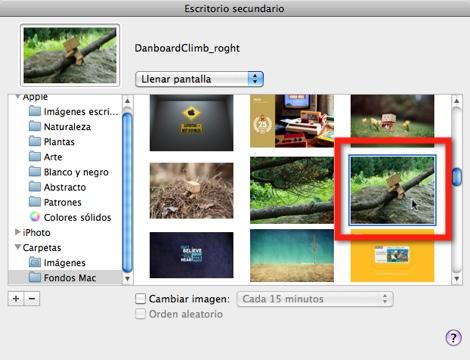seleccionar fondo de pantalla 2 Como poner un wallpaper Dual screen en tu Mac