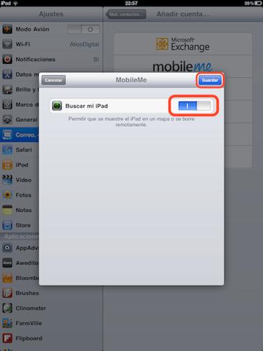 activar buscar mi iPhone Cómo activar Busca mi iPhone en iOS 4.2