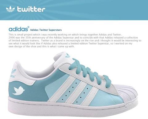 adidas tenis twitter Adidas pondrá a la venta tenis de Facebook y Twitter