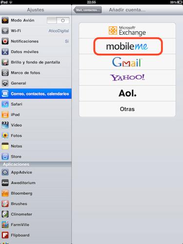 """Cómo activar """"Busca mi iPhone"""" en iOS 4.2 - agregar-mobileme"""