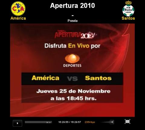 America vs Santos en vivo, Semifinal Apertura 2010 - america-santos-en-vivo-apertura-2010
